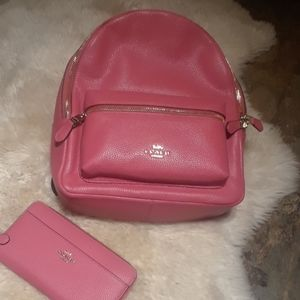 NWT Authentic medium Coach Back Pack and Wallet